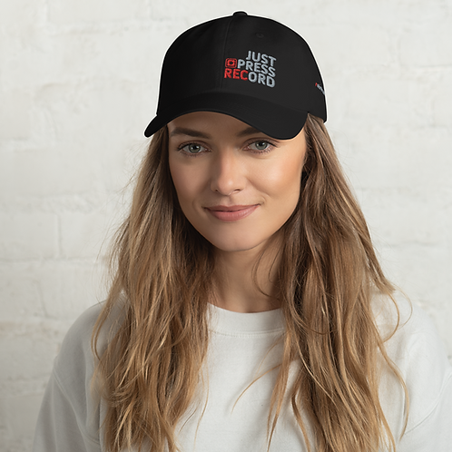 Just Press Record EMBROIDERED Classic Dad Hat