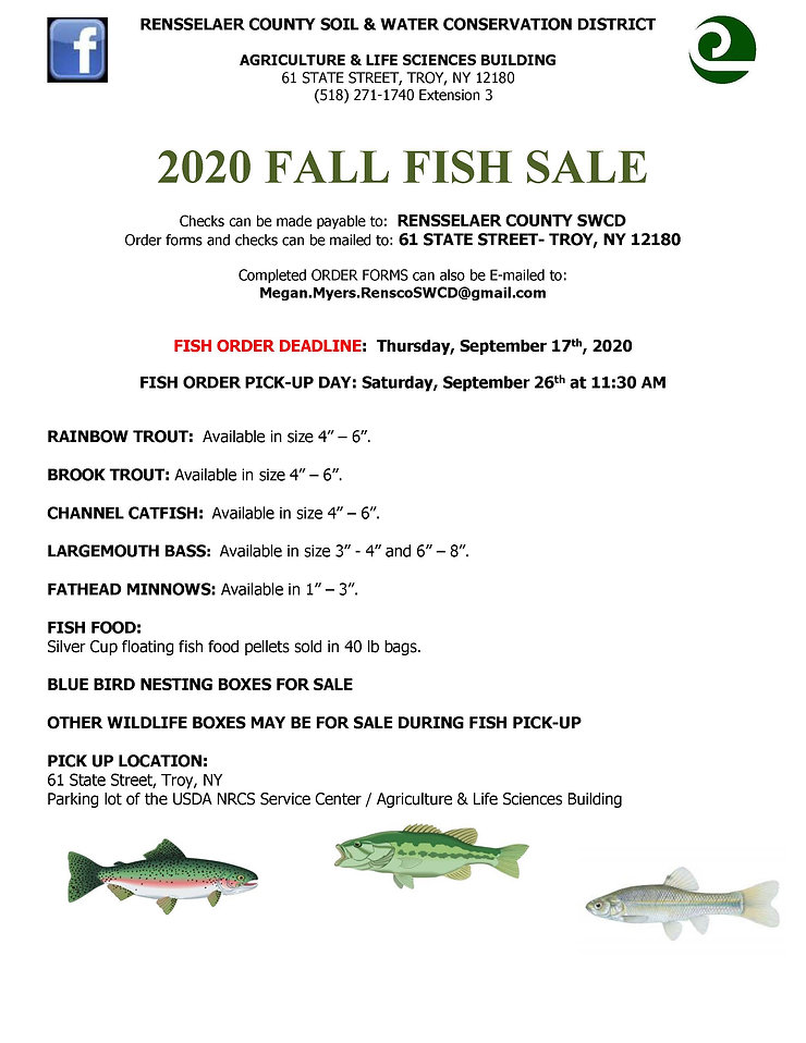 2020 Fall Fish Stocking Order Form Final