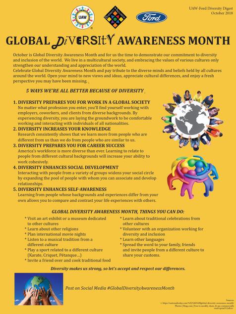 2018 10 October Diversity Digest - Globa