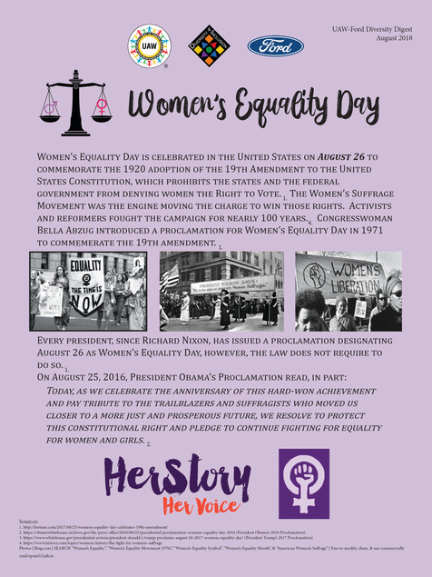 2018 08 August Diversity Digest - Women'