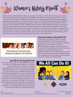 2019 03 March Diversity Digest - Women's