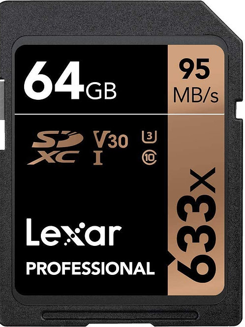 Memoria SD Lexar 64 GB Professional Clase 10  U3 V30 4K