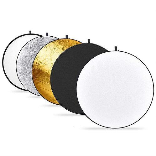 Flex Reflector 80cm  5 en 1 (Oro, plata, negro, blanco, translúcido)