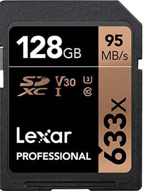 Memoria Sd Lexar 128Gb Clase10 U3 V30