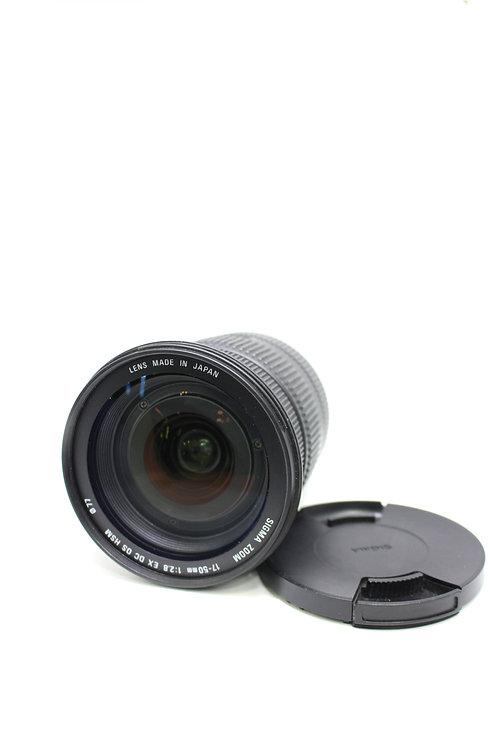 Lente 17-50mm f/2.8  Sigma línea Dorada para Canon