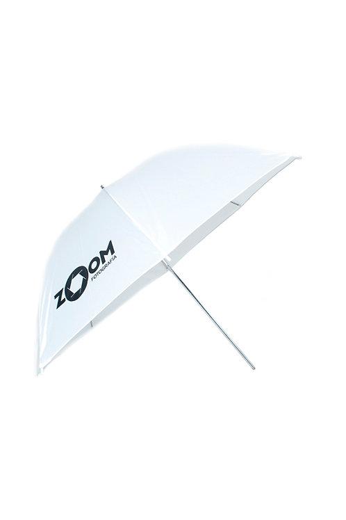 Sombrilla blanca traslucida marca Zoom 36''