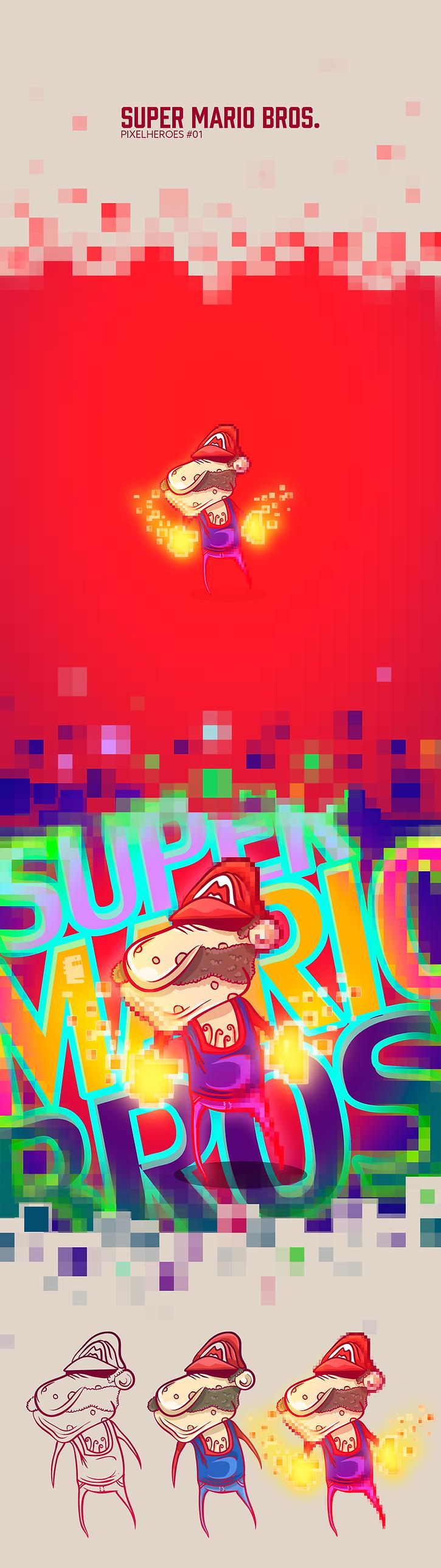 Behance---Pixelheroes-#01---Super-Mario-