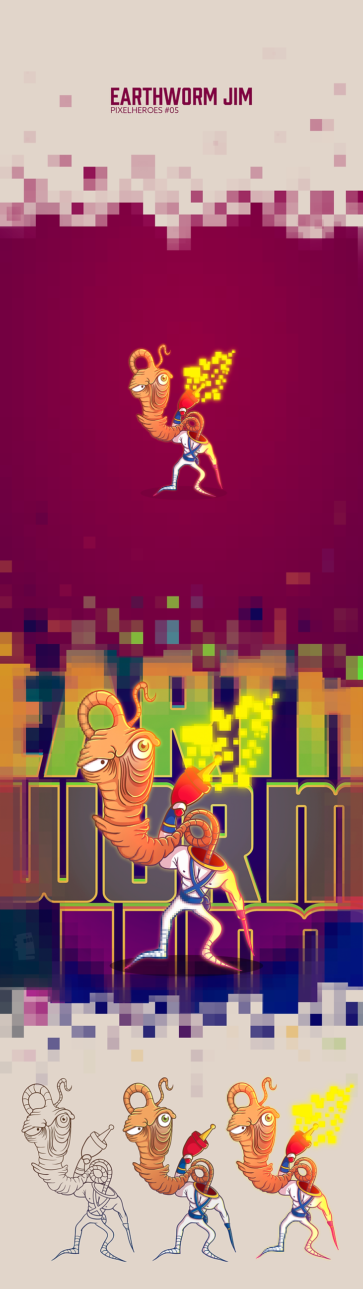 Behance---Pixelheroes-#05---Earthworm-Ji