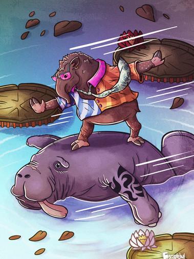 Alexandre Esquitini - O Anta e A Peixe-boi marinho.jpg