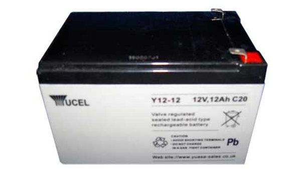 Batteria al piombo 12V 12Ah per Allarmi e UPS - YUCEL