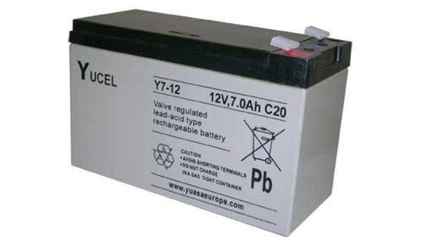 Batteria al piombo 12V 7Am per centrale allarme antifurto e UPS