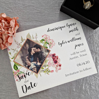 Copper Watercolor Vintage Save the Date