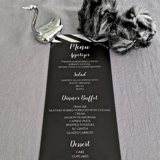 Black and White Modern Stripe Wedding