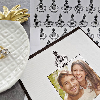 Black and White Pineapple Save the Date 2