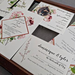 Dominique Copper Geometric Watercolor Wedding