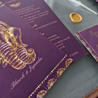 Purple and Gold Indian Wedding
