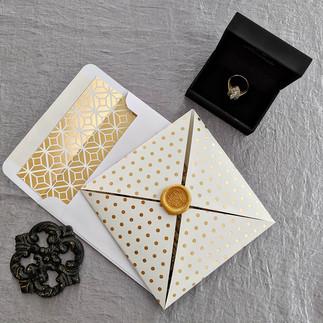 Gold Urban Fold Save the Date