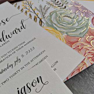 Camille Jason Watercolor Wedding