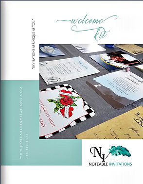 Noteable Invitations Welcome Kit