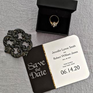 Black White Gold Art Deco Wedding