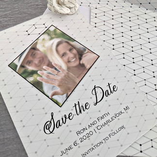 Black and White Geometric Save the Date