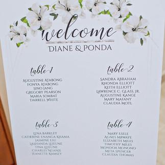 Diane White Plumeria Wedding