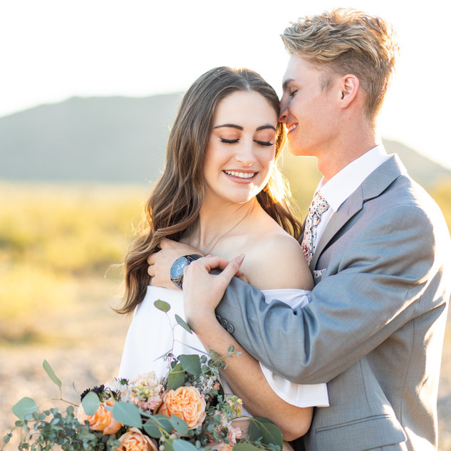 Mountain Estrella Sunset Engagement Sess
