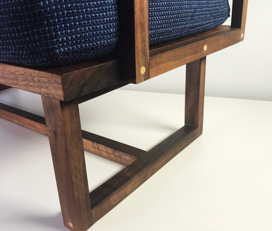 Frame made from solid black walnut wood