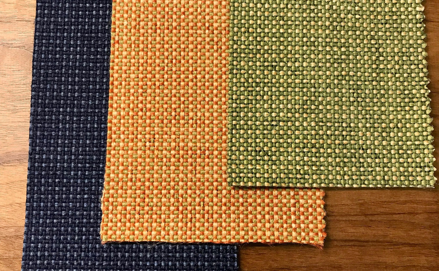 Fabric choices: Deep Blue/Retro Orange/Shire Green