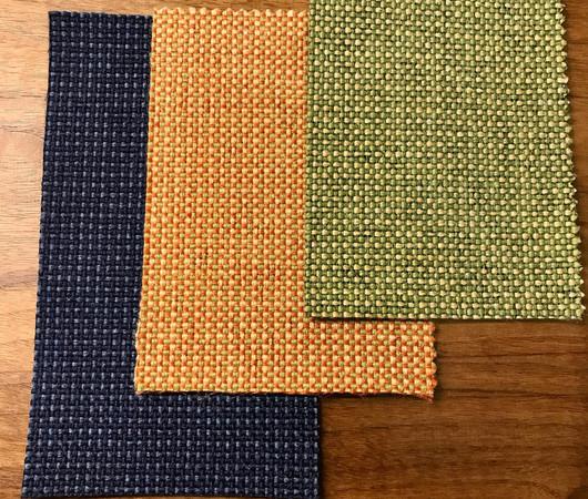 Fabric choices: Deep Blue/Retro Orange/Shire Green