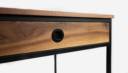 Deschamps Custom Steel Frame Desk Walnut