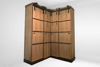 Deschamps Custom Armoire Wardrobe Walnut