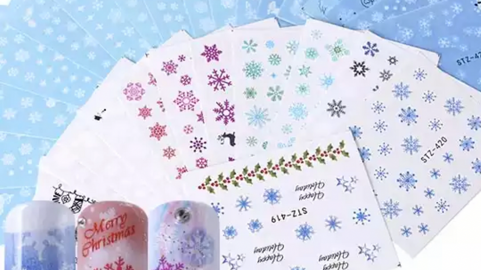 16 Sheets/Snow Flake Water Decals