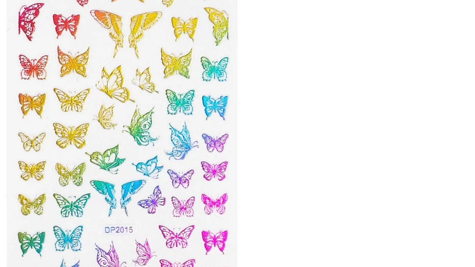 Rainbow Butterfly Stickers