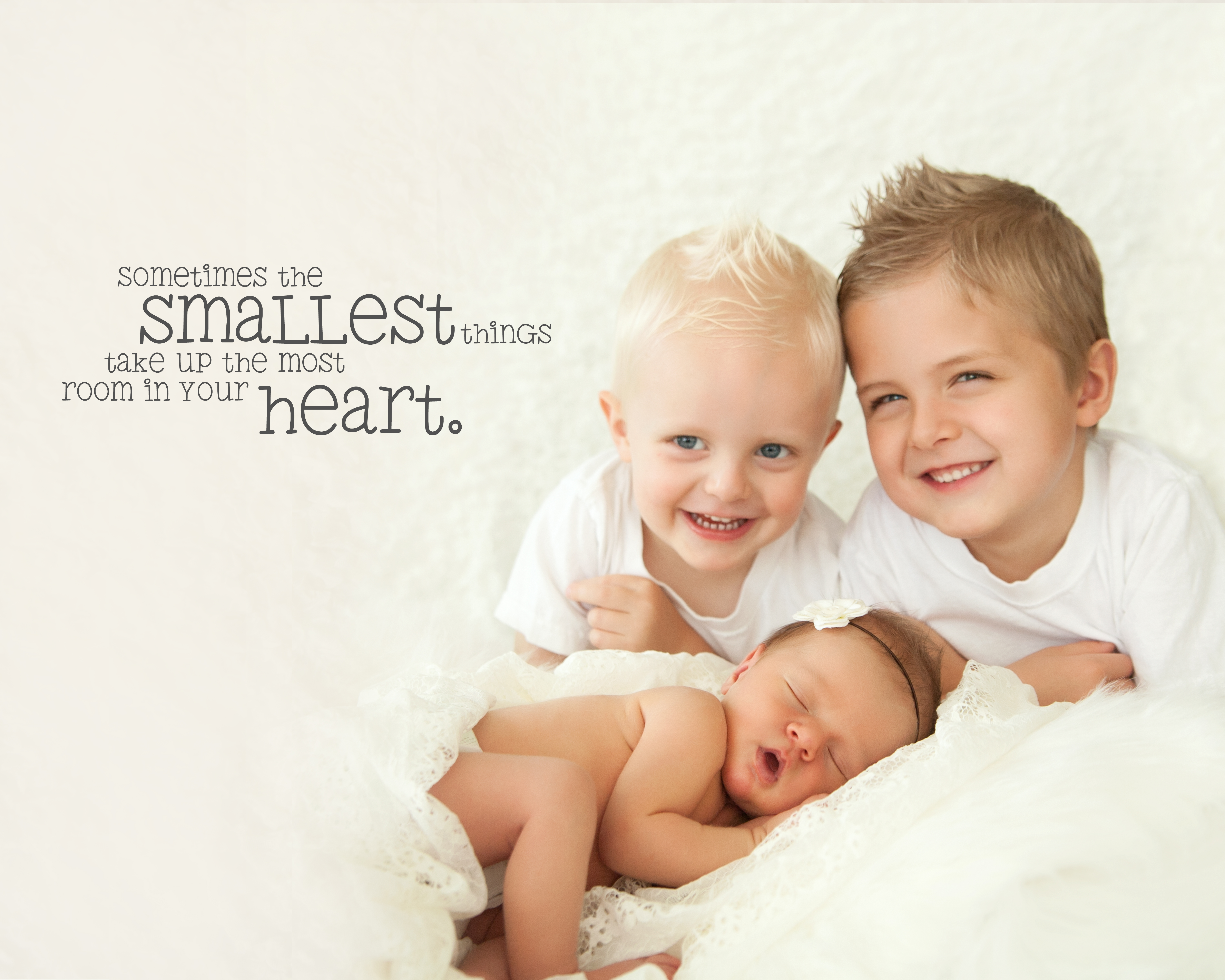 3 kids smallest place