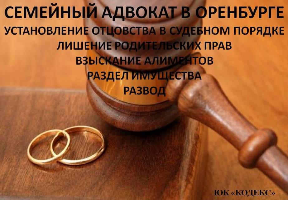 семейный юрист оренбург, юрист оренбург, установление отцовства оренбург
