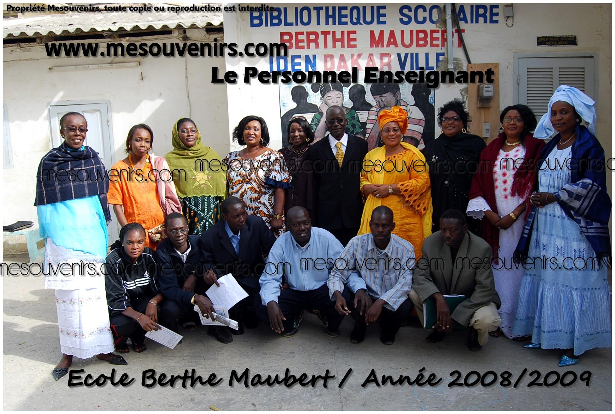 Berthe Maubert 2008 2009 Personnel
