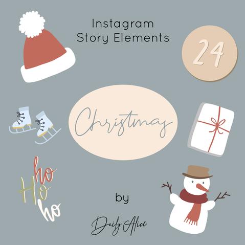 "INSTAGRAM STORY ELEMENTS ""CHRISTMAS"""