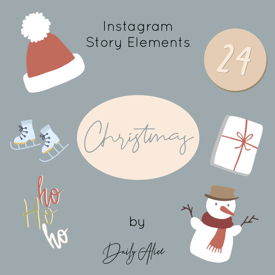 "INSTAGRAM STORY ELEMENTS ""CHRISTMAS"""