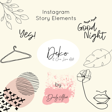 "INSTAGRAM STORY ELEMENTS ""DEKO"""