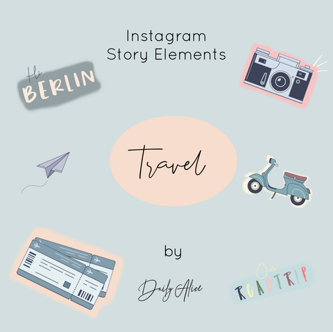 "INSTAGRAM STORY ELEMENTS ""TRAVEL"""