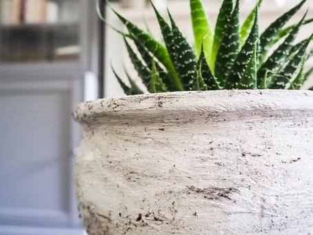 Interior DIY - Terracotta Topf mit Antik-Effekt