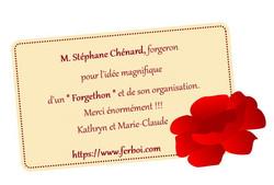 remerciement Stephane Chenard
