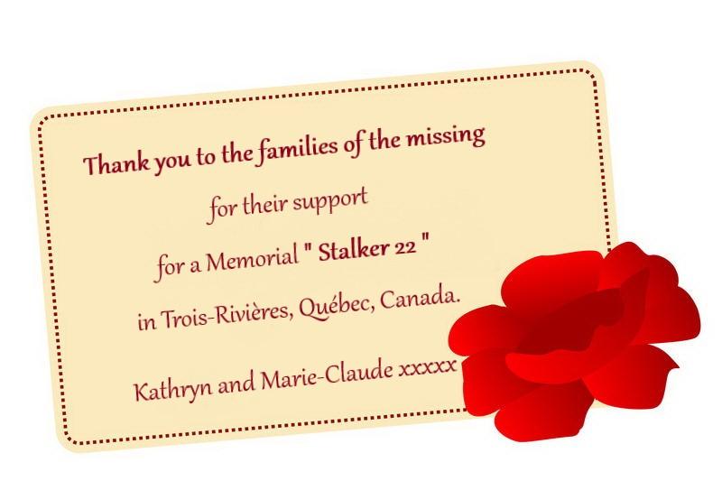 remerciement aux familles pour leurs sup