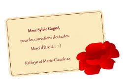 remerciement Sylvie Gagne