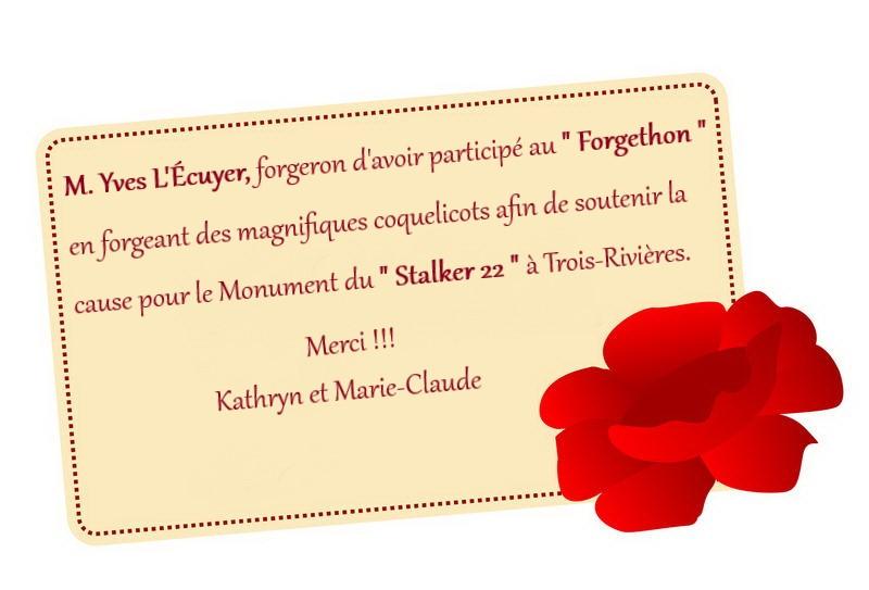 remerciement Yves L_Ecuyer  Forgeron