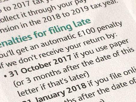 Tax return late filing penalties