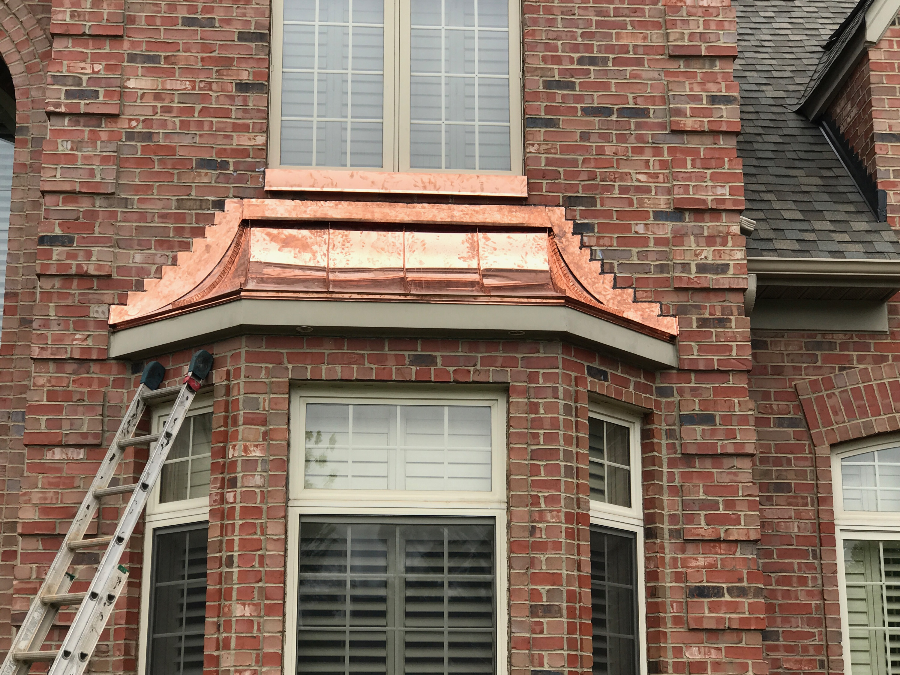 Radius Copper Bay Window