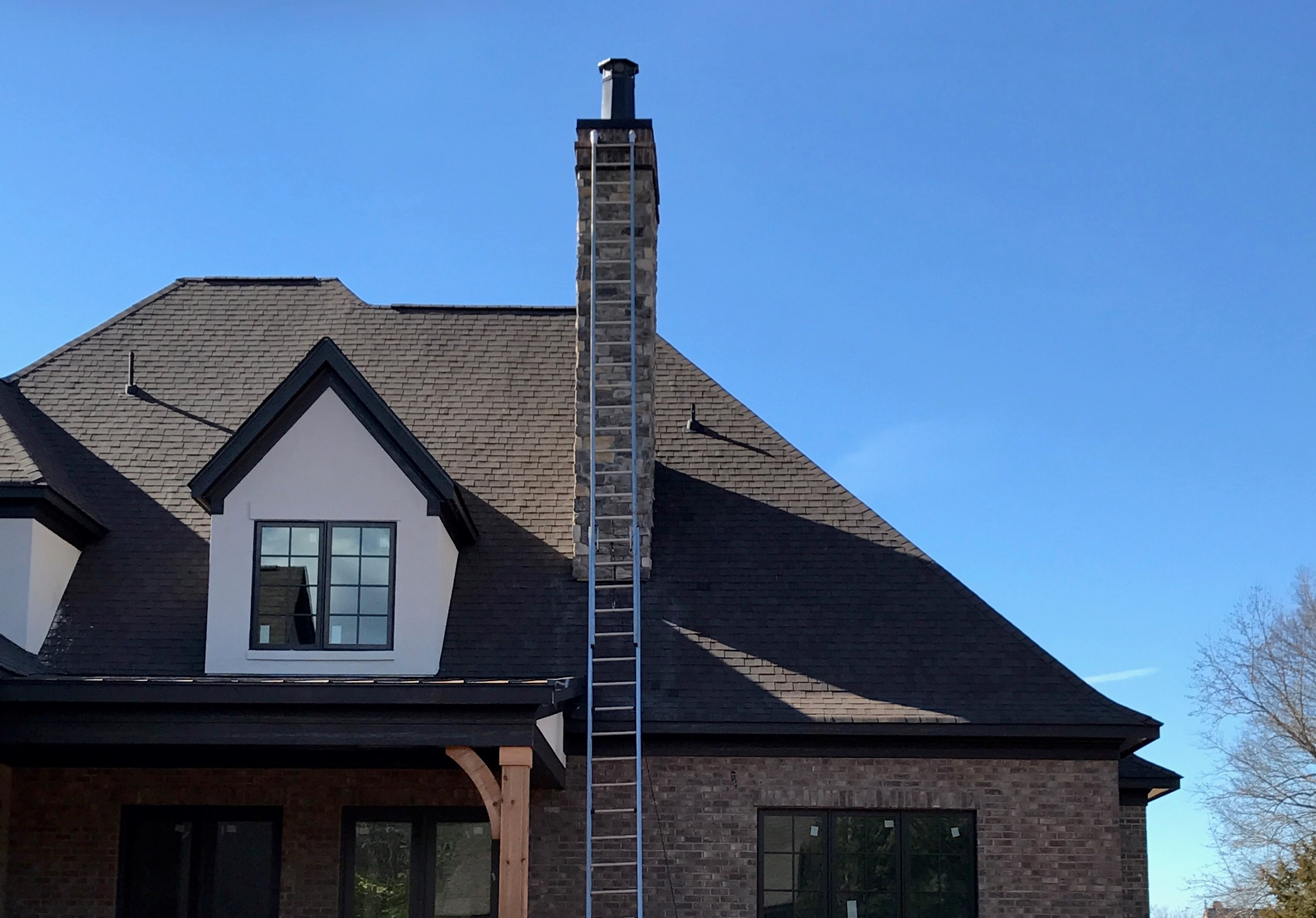 Shingles and chimney pot