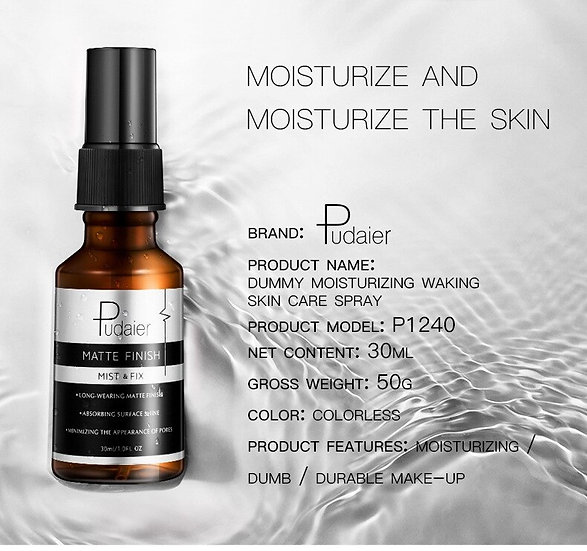 Pudaier 30ml Makeup Setting Spray Matte Finish Bottle Setting Spray Oil-control